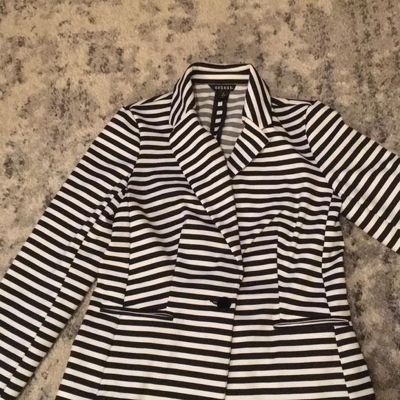 George Jackets & Blazers - Black and White striped blazer
